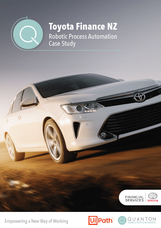 Robotic Process Automation NZ Toyota Case Study